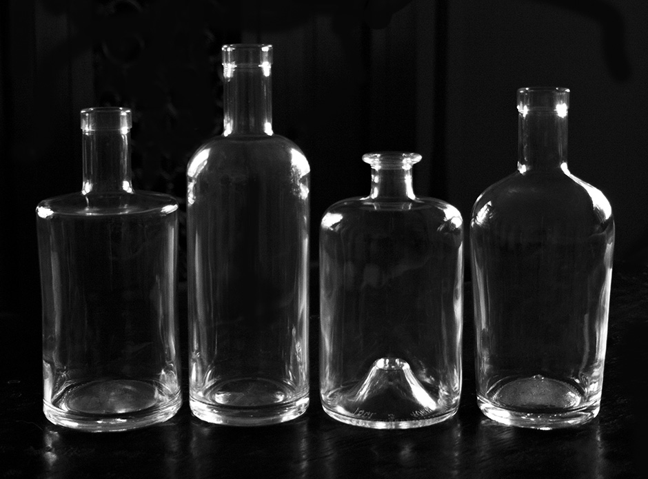 A few popular bottle shapes currently available.