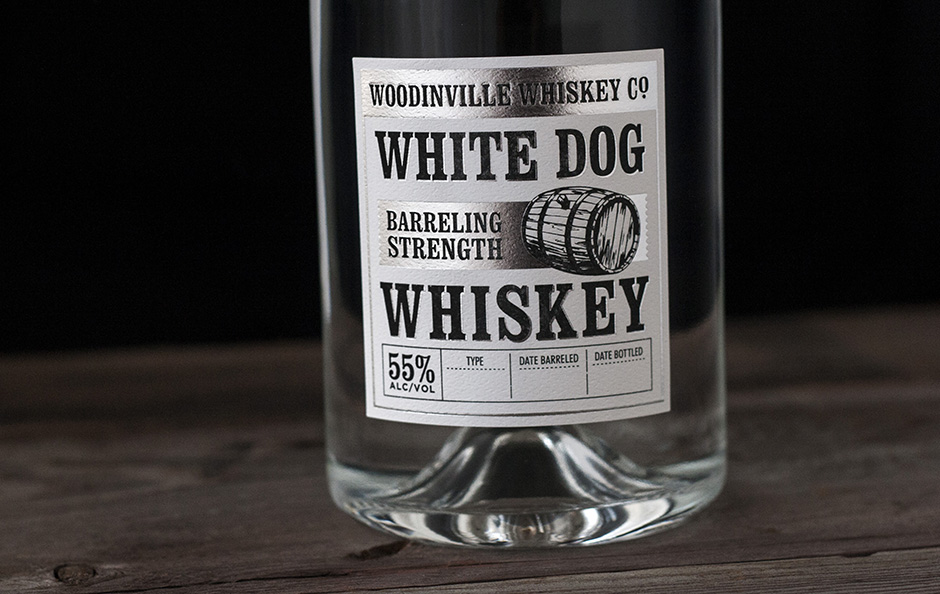 white dog whiskey label