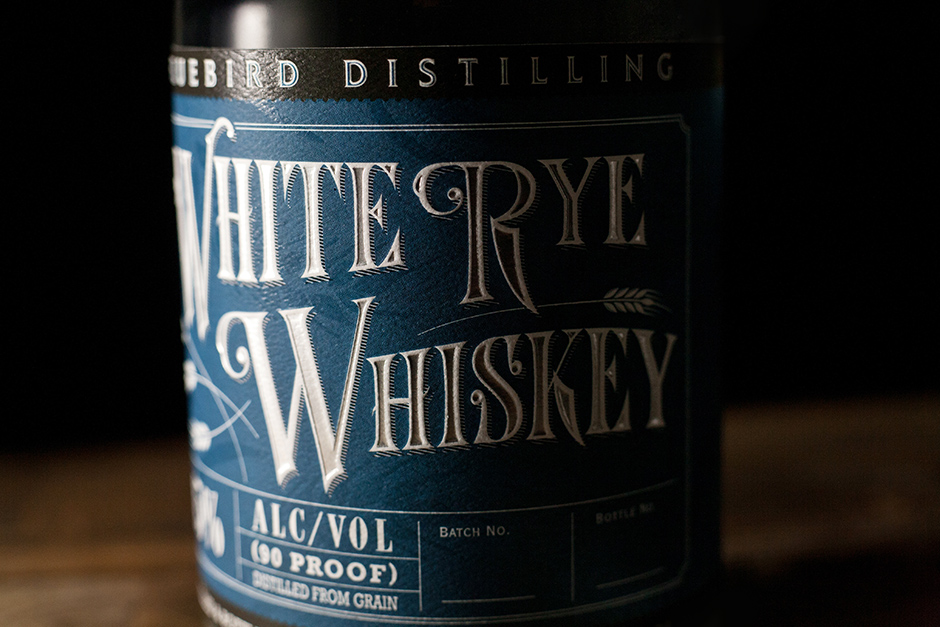white rye whiskey label