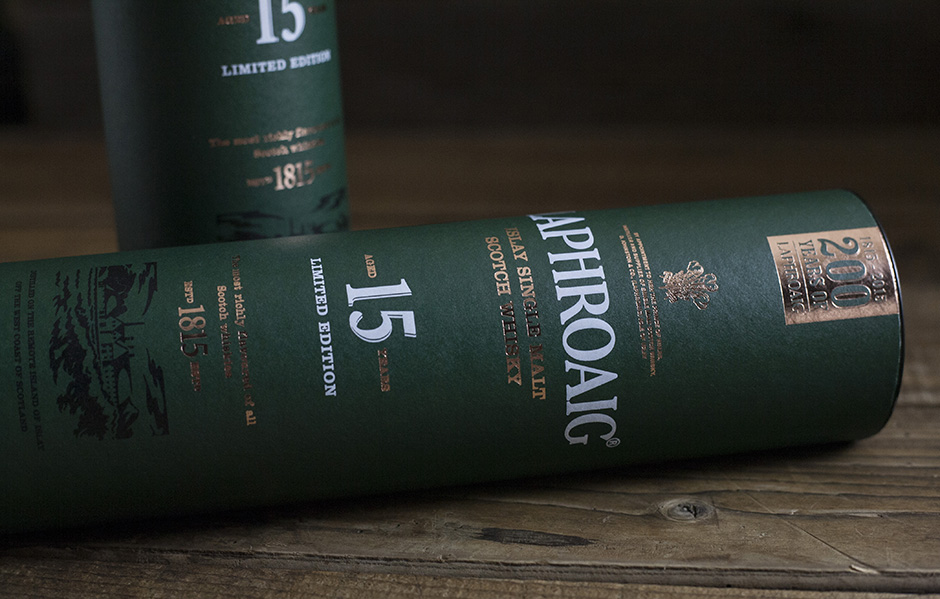 Laphroaig 15-year packaging