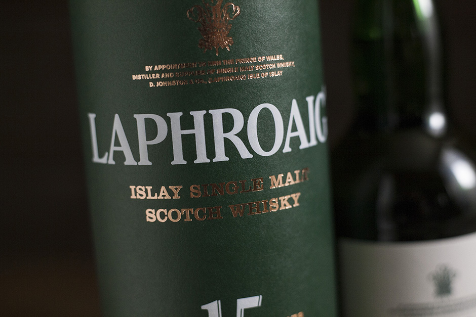Laphroaig 15-year scotch