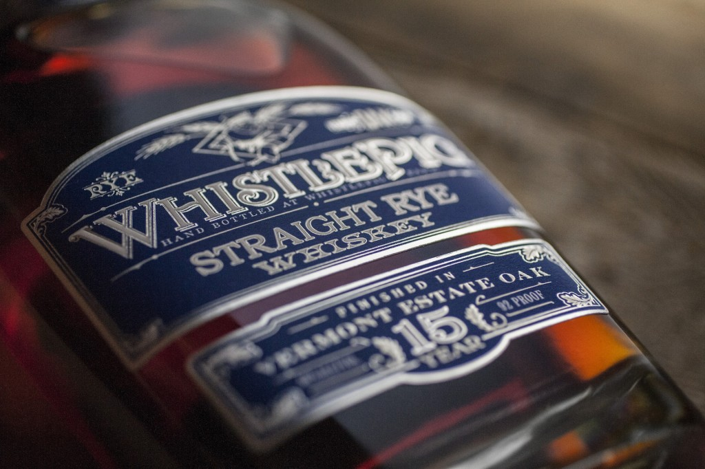 WhistlePig Rye Whiskey 15-year label design