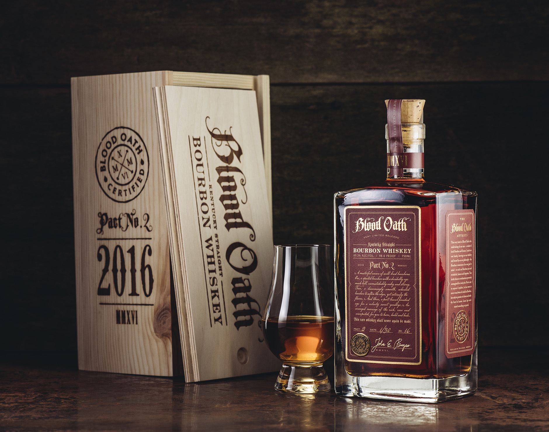 Blood Oath Bourbon Package Design