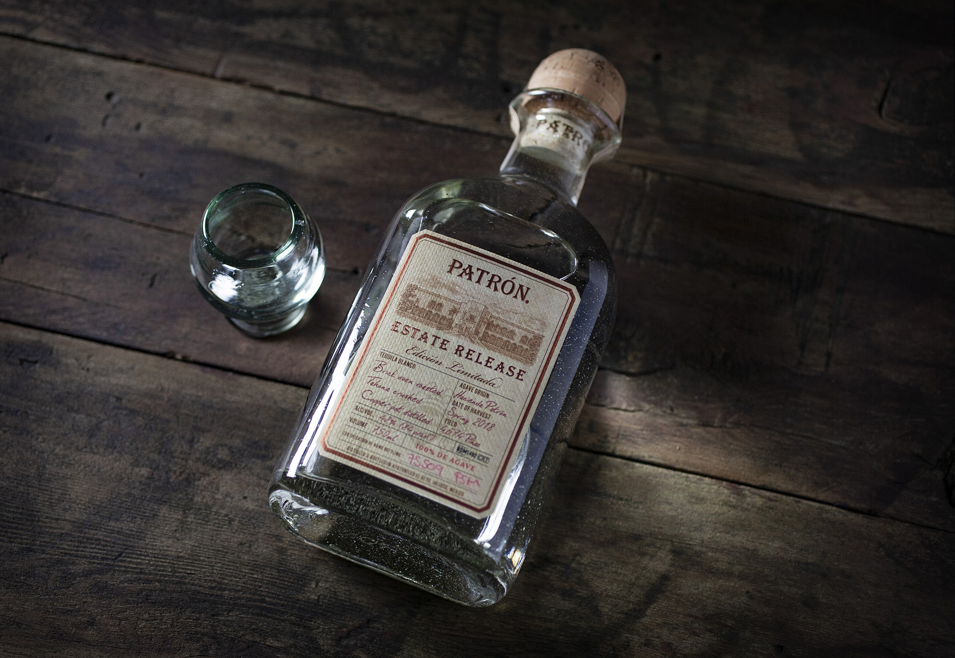Patrón Estate Release Tequila Package design
