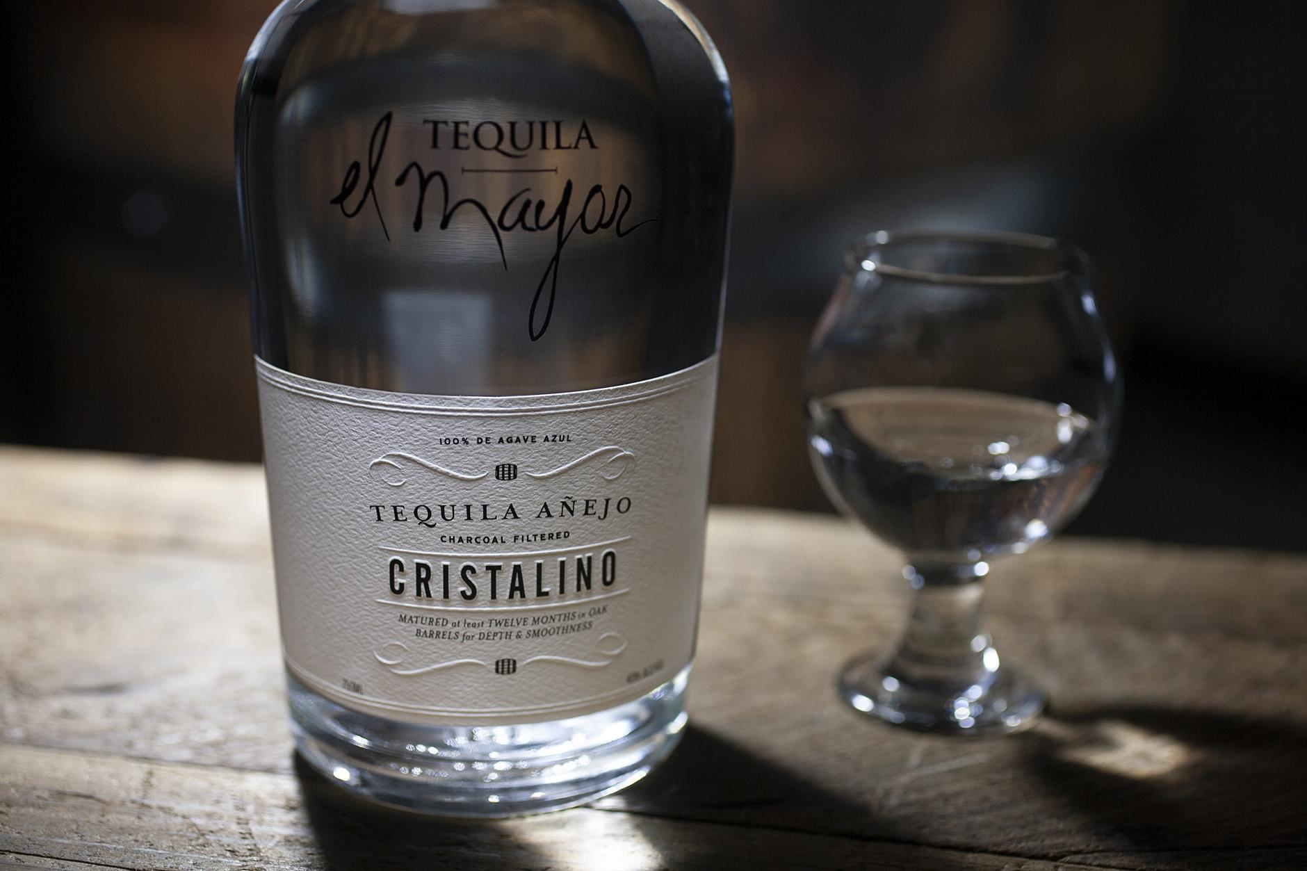 Cristalino Tequila Label Design